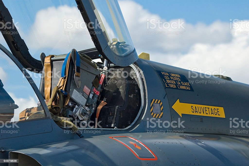 Ejector seat and cockpit stock photo