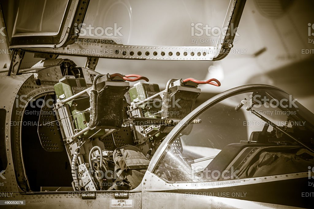 Ejector seat in airplane stock photo