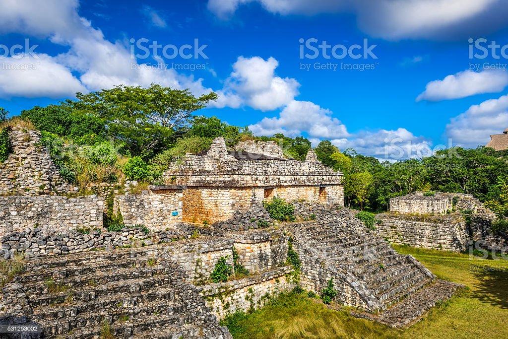 Ek Balam Mayan Archeological Site. Ancient Maya Pyramids. stock photo