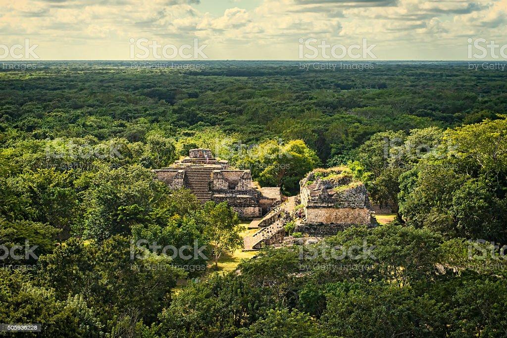 Ek Balan Mayan Archeological Site. Maya Ruins, Yucatan Peninsula stock photo