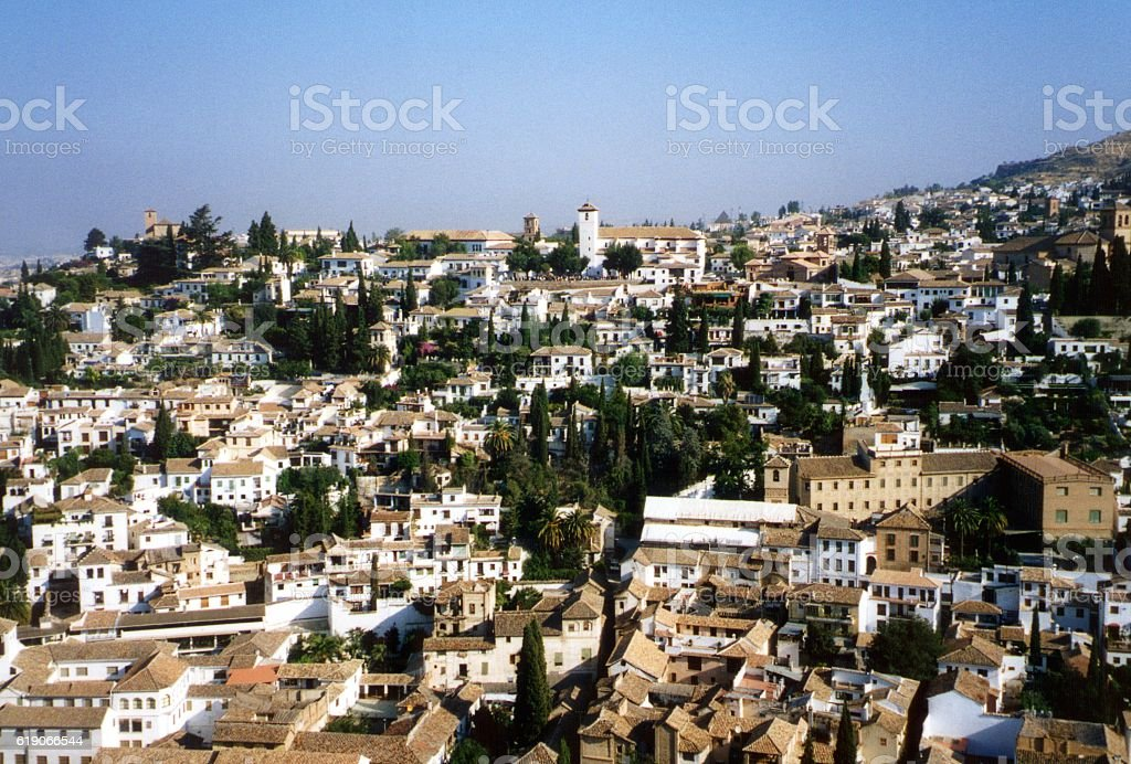 El Albayzin district, Granada, Andalusia stock photo
