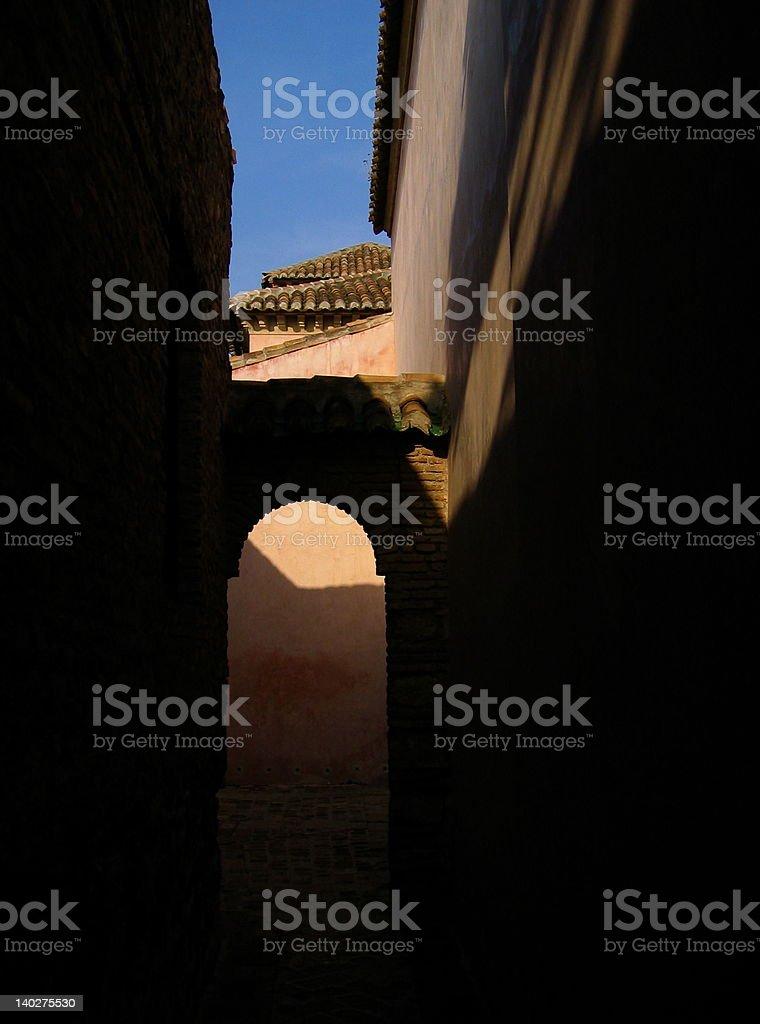 El Alcazaba, Malaga, Spain royalty-free stock photo