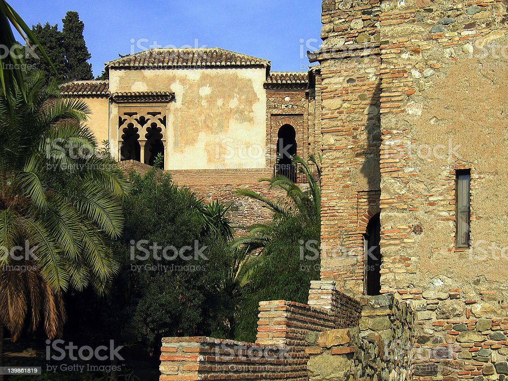 El Alcazaba royalty-free stock photo