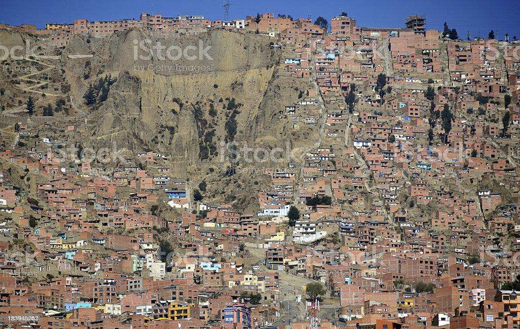 El Alto, La Paz department, Bolivia: slum stock photo