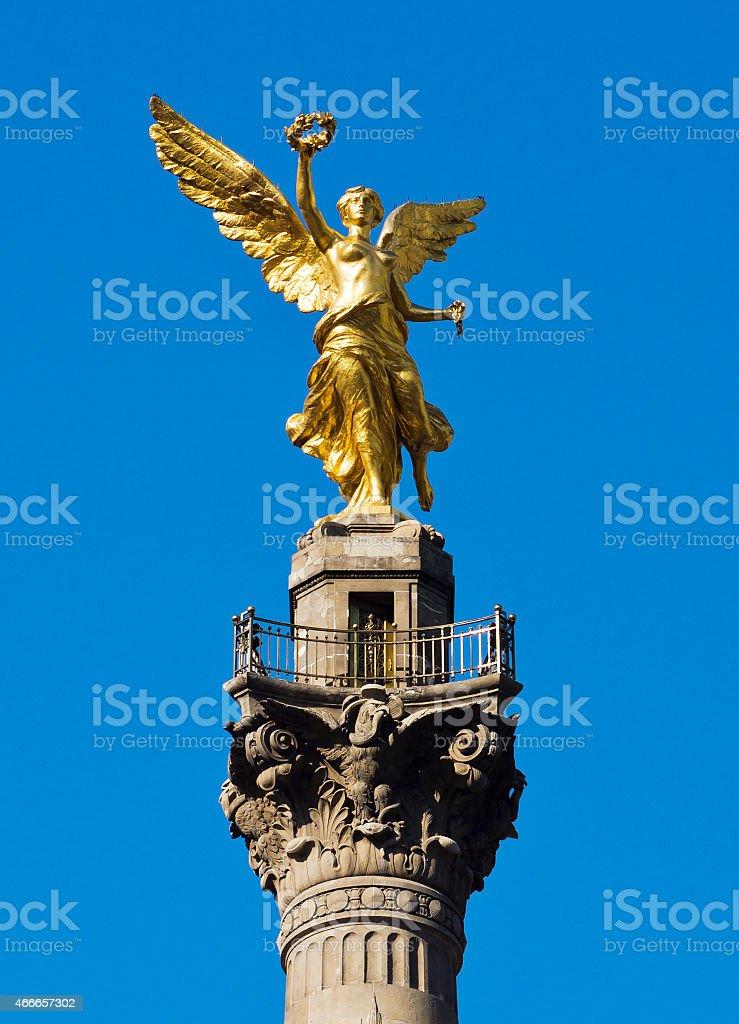 El Angel in Mexico City, Mexico. stock photo