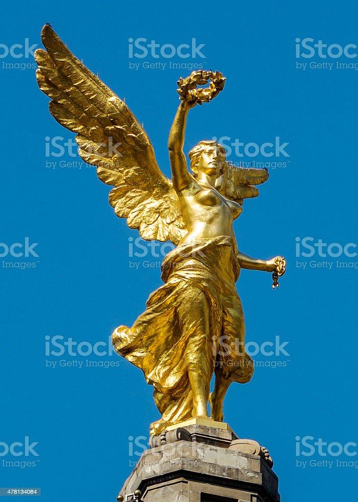 El Angel In Mexico City stock photo