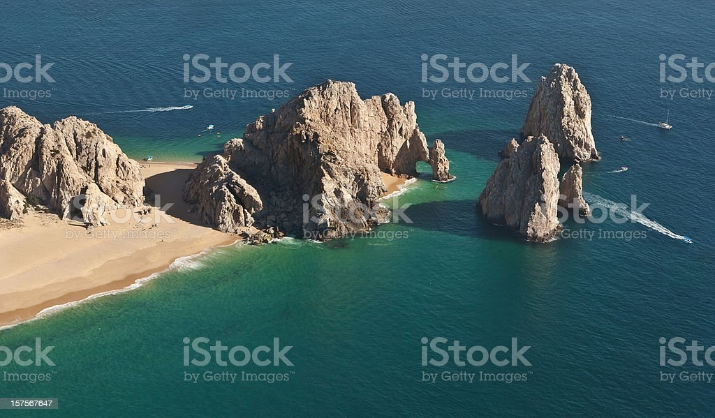 El Arco and Land's End from the Air royalty-free stock photo