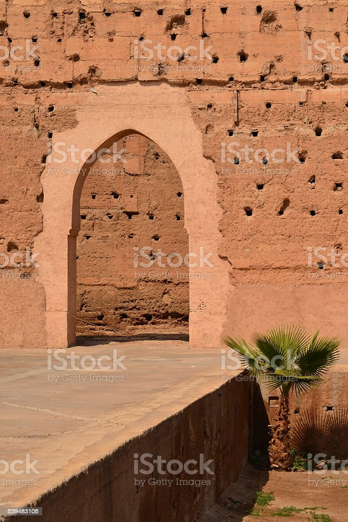 El Badi, Marrakech, Morocco, Africa. stock photo