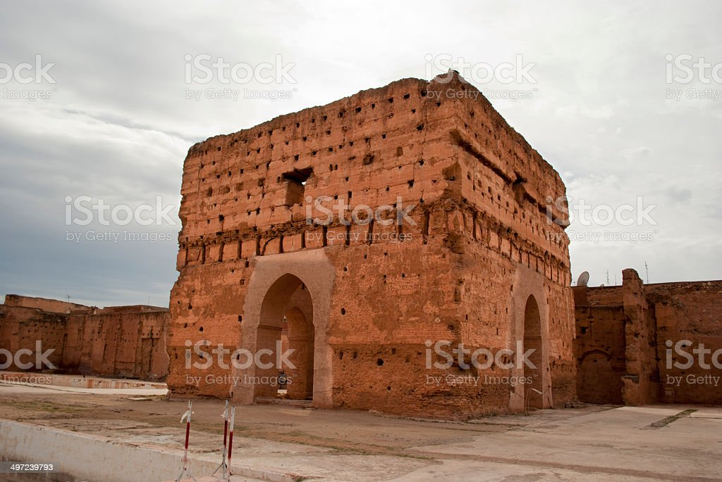 El Badi Palace in Marrakech stock photo