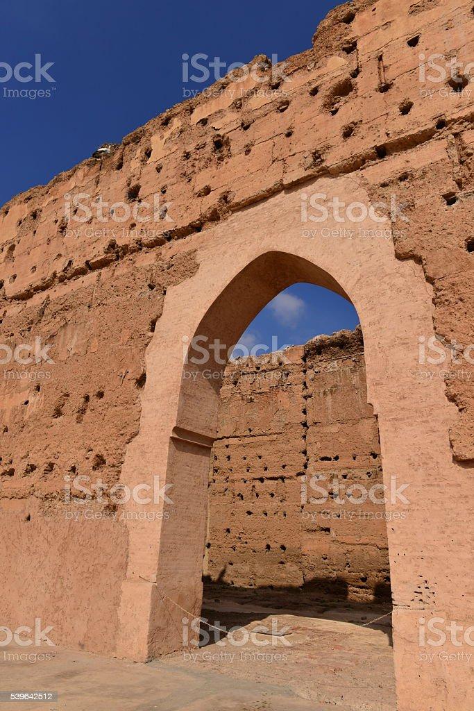 El Badi ruins, Marrakech, Morocco, Africa. stock photo