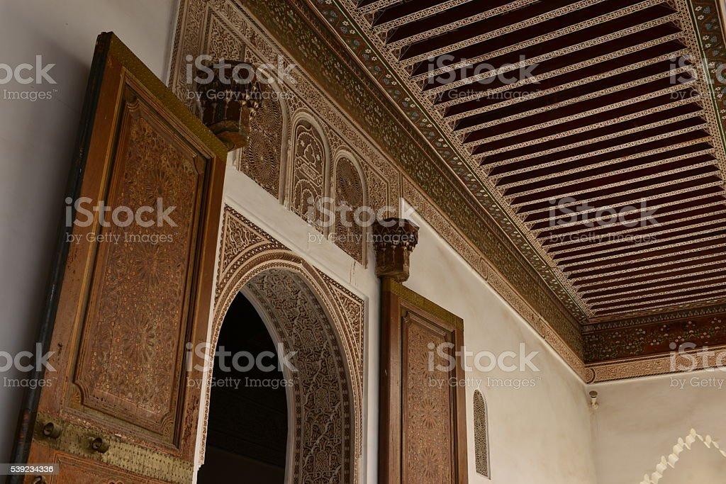 El Bahia, Marrakech, Morocco, Africa. stock photo