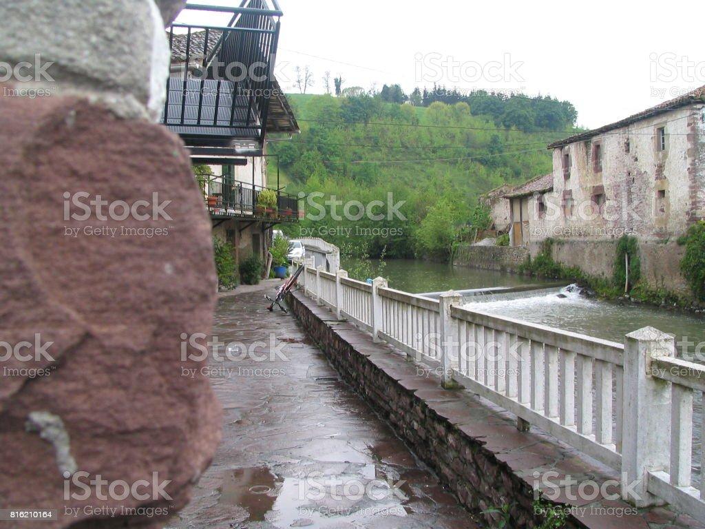 El canal de Navarra stock photo