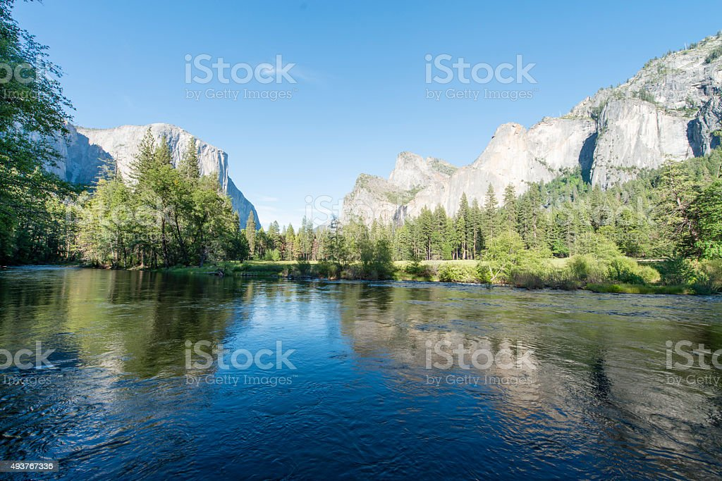 El Capitan and Bridal Veil Falls stock photo