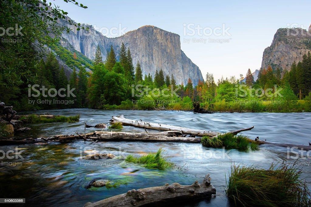 El Capitan and Merced River stock photo
