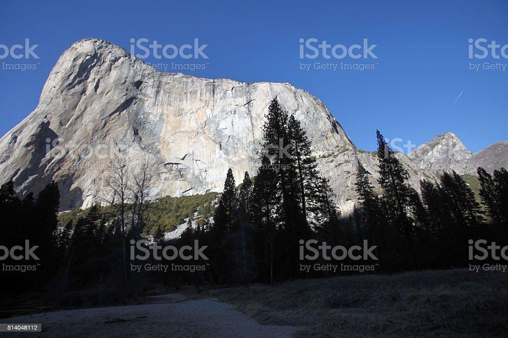 El Capitan granite cliff face, Yosemite National Park stock photo
