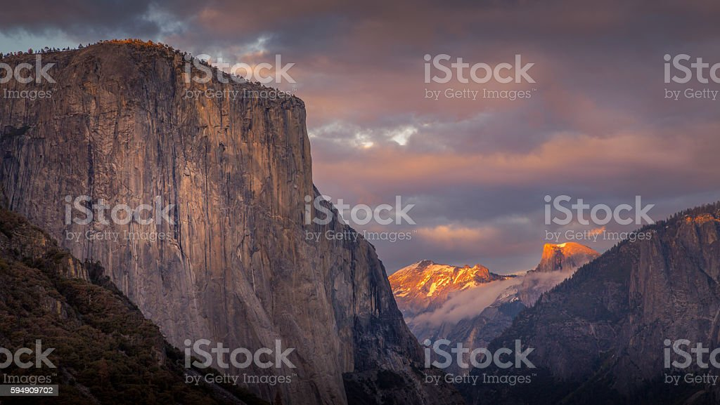 El Capitan & Half Dome stock photo