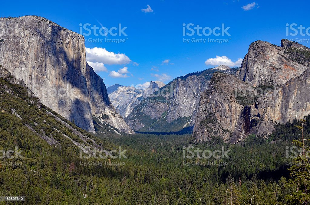 El Capitan Half dome Yosemite stock photo