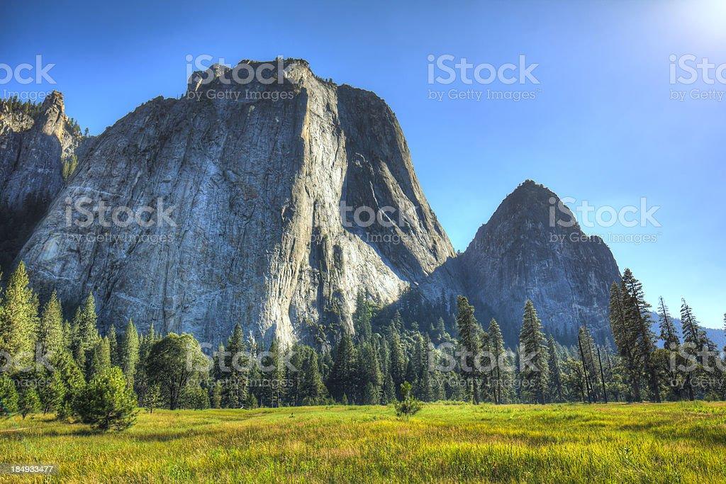 El Capitan in Yosemite National Park stock photo