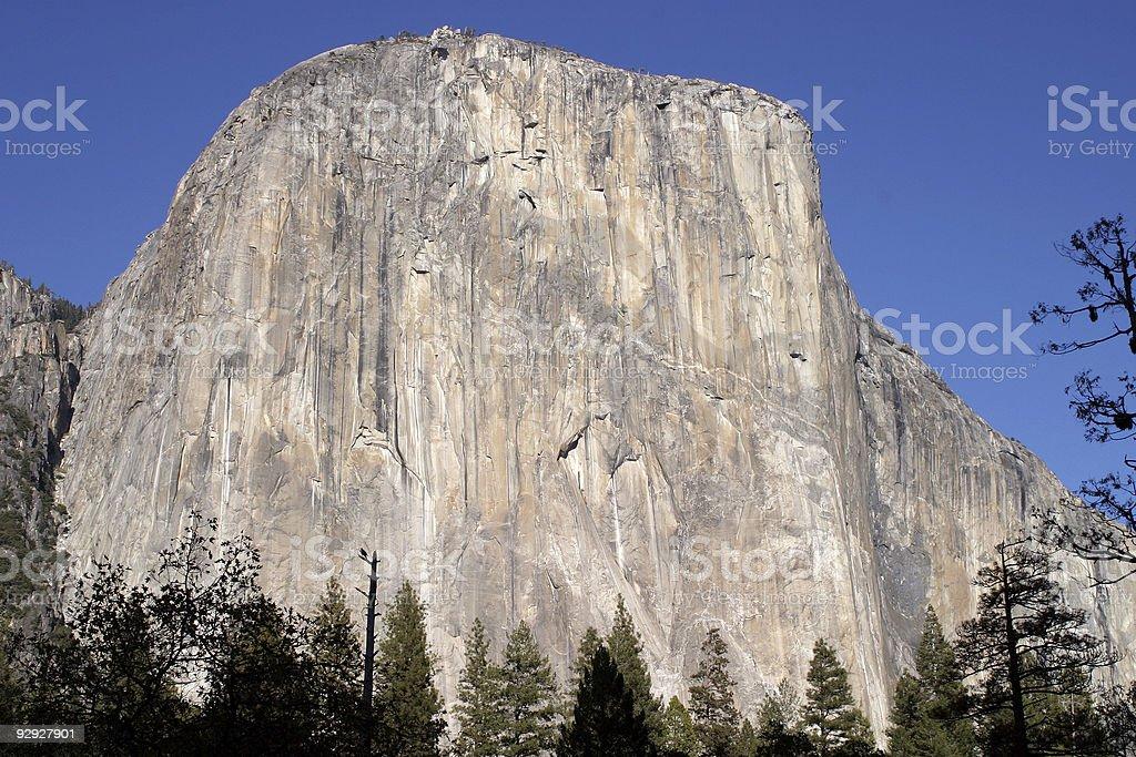 El Capitan rock formation in Yosemite National Park stock photo
