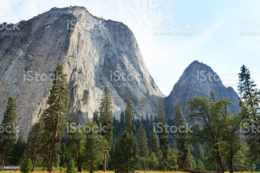El Capitan rock stock photo