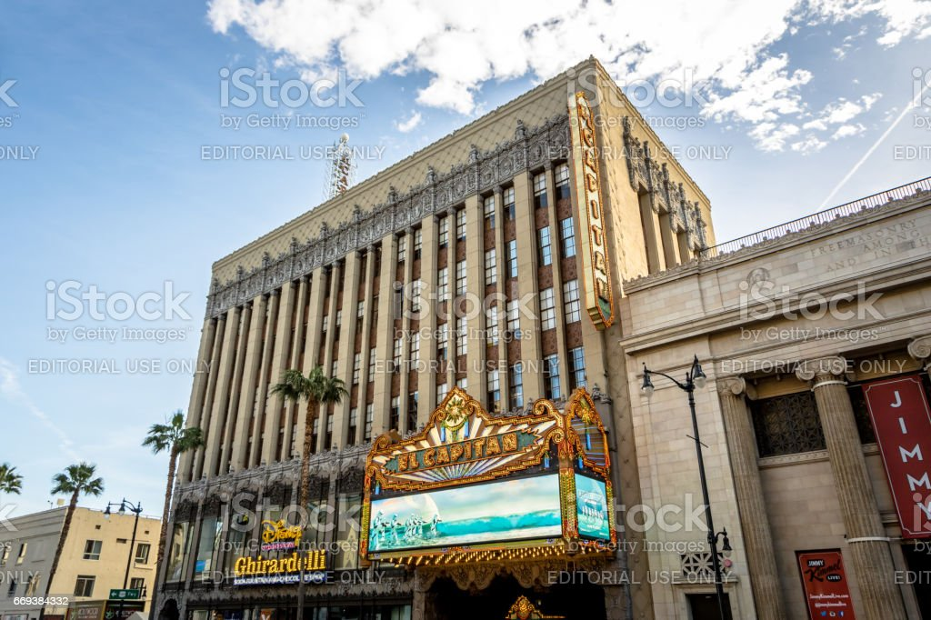 El Capitan Theater in Hollywood Boulevard - Los Angeles, California, USA stock photo