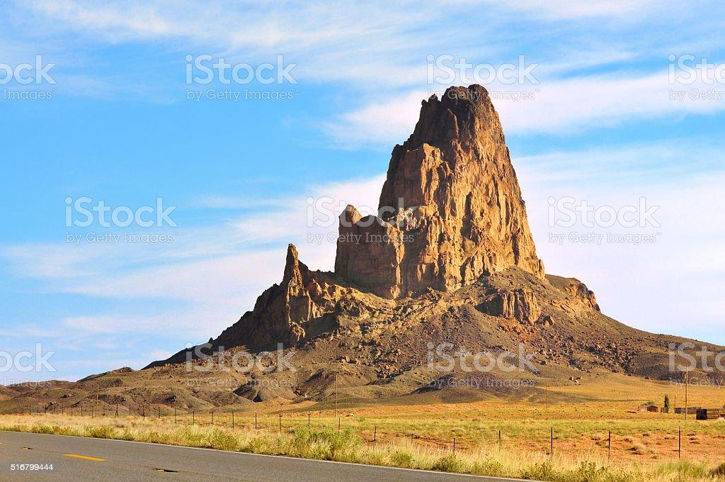 El Capitan volcano Agathla Peak in Monument Valley Arizona stock photo