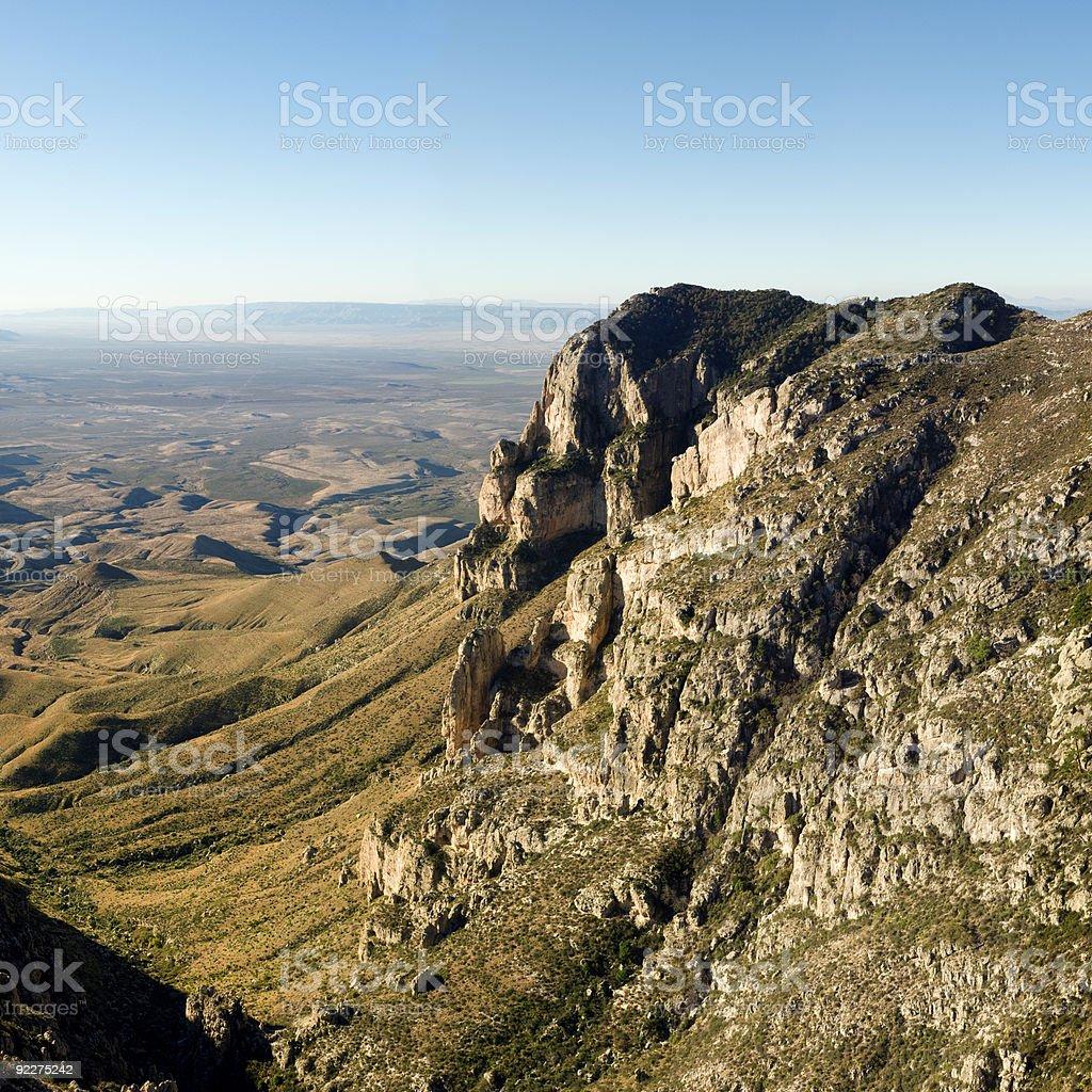 El Capitan XXLarge (Guadalupe Mountains) royalty-free stock photo