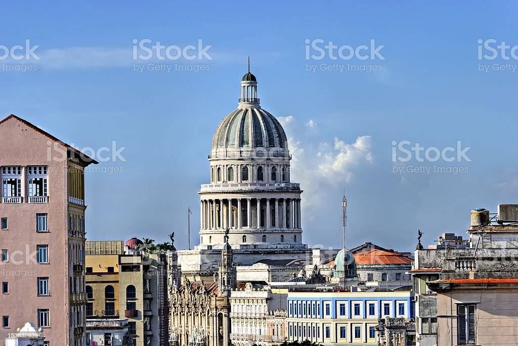 'El Capitolio', Havana, Cuba royalty-free stock photo