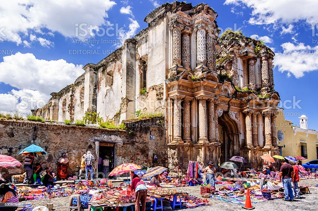 El Carmen ruins, Antigua, Guatemala stock photo