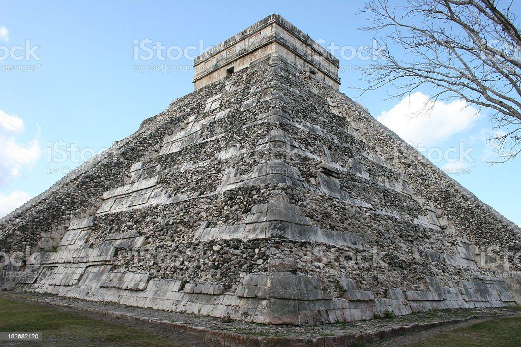 El Castillo pyramid Chichen Itza royalty-free stock photo