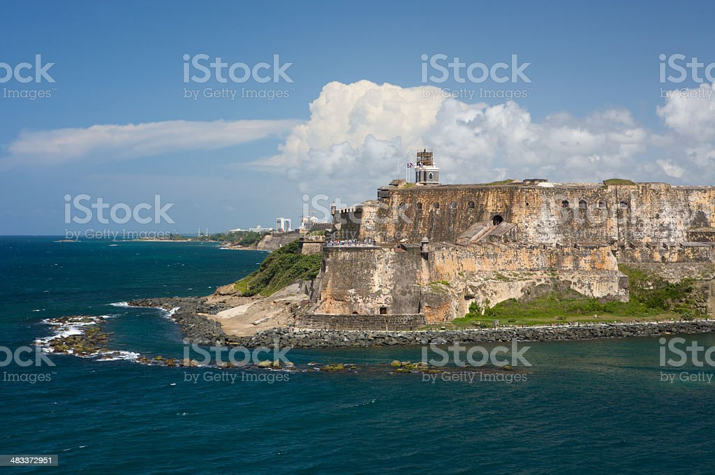 El Castillo San Felipe del Morro stock photo