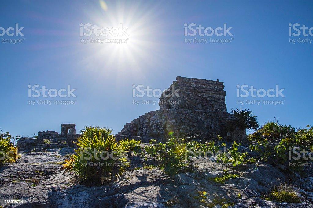 El Castillo sun stock photo