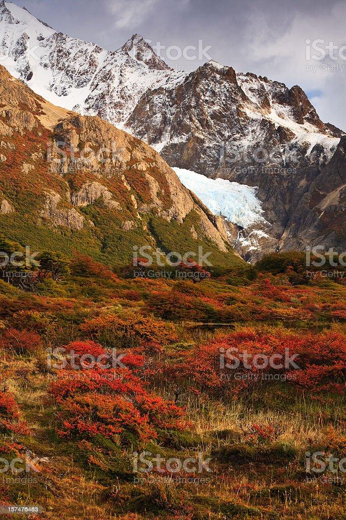 El Chalten Autumn Valley View royalty-free stock photo