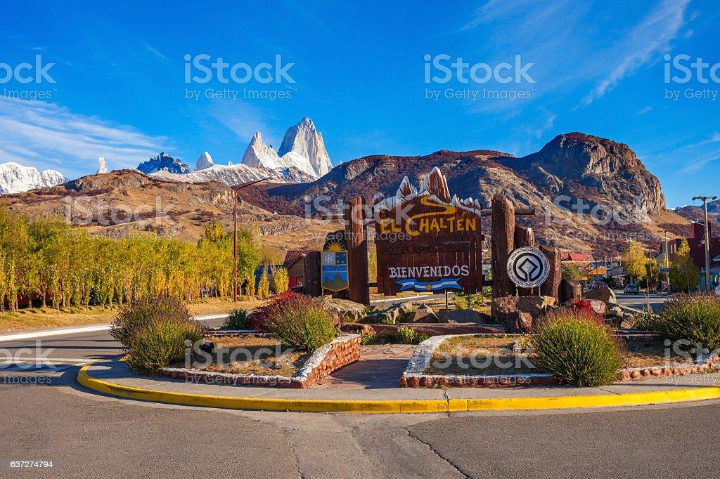 El Chalten village, patagonia stock photo