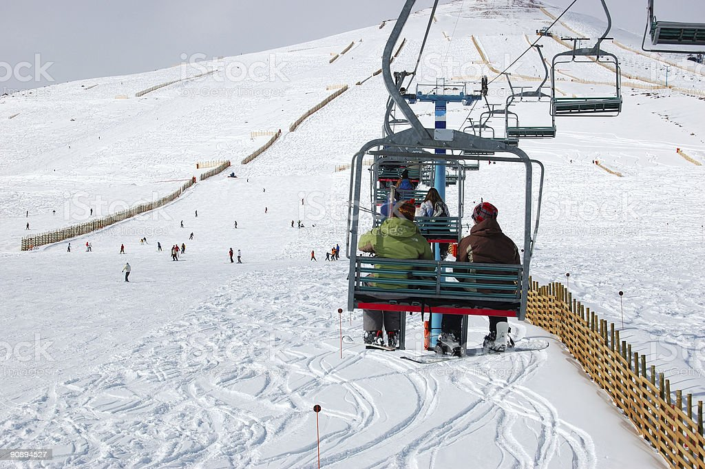 El Colorado Ski Center stock photo