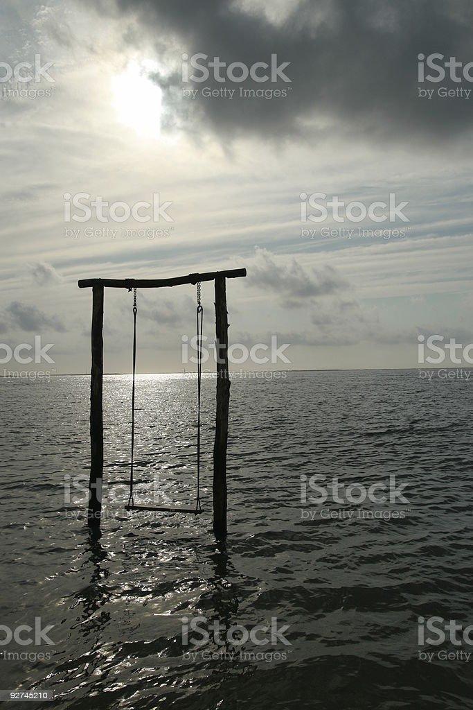 El columpio. Swing by the sea - 2 stock photo