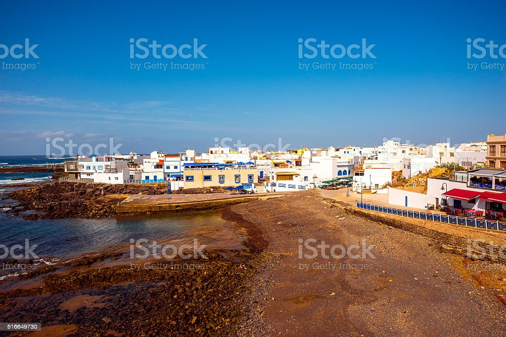 El Cotillo village on Fuerteventura island stock photo