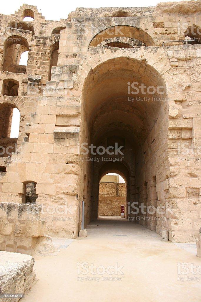El Djem Amphitheatre stock photo