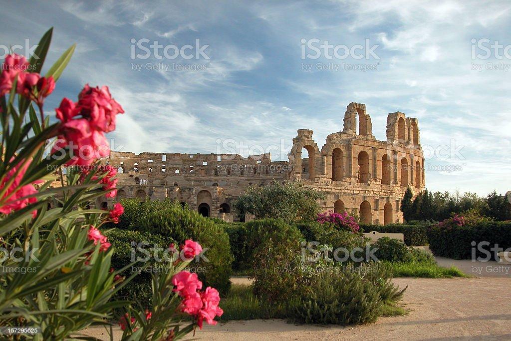 El Djem Coliseum, Tunisia stock photo
