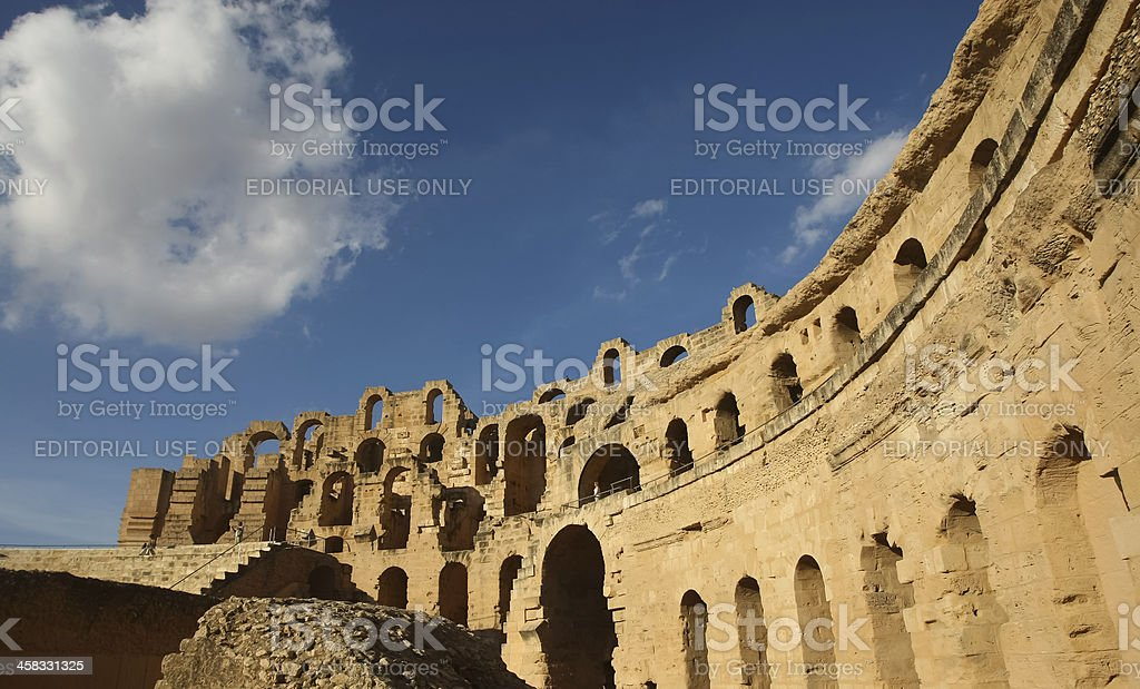 El Djem roman amphitheatre royalty-free stock photo