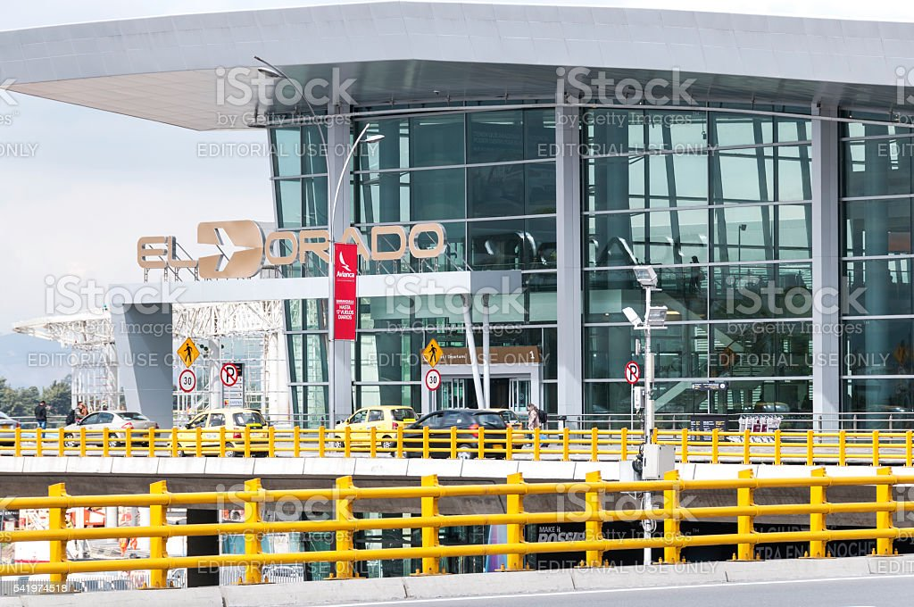 El Dorado International Airport in Bogota stock photo