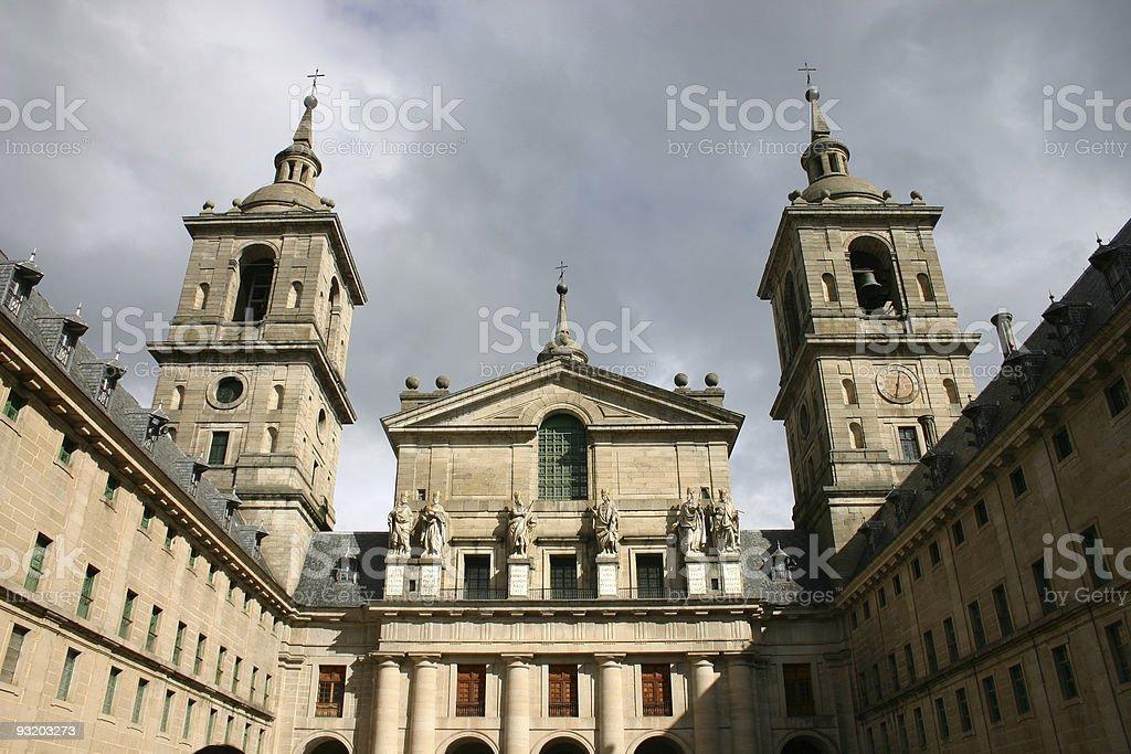 El Escorial, the Royal Monastery of San Lorenzo stock photo