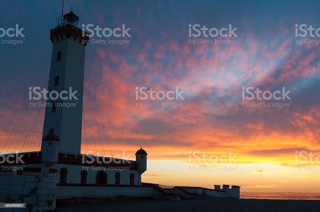 El Faro lighthouse in La Serena, Chile stock photo