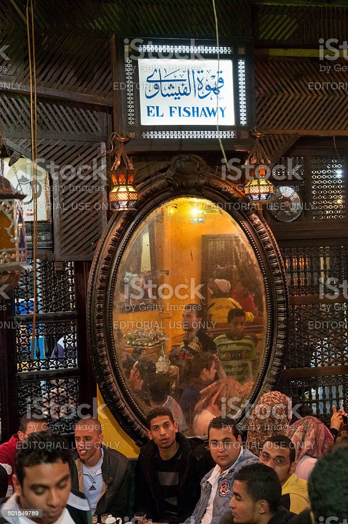 El Fishawy cafe in Cairo Egypt stock photo