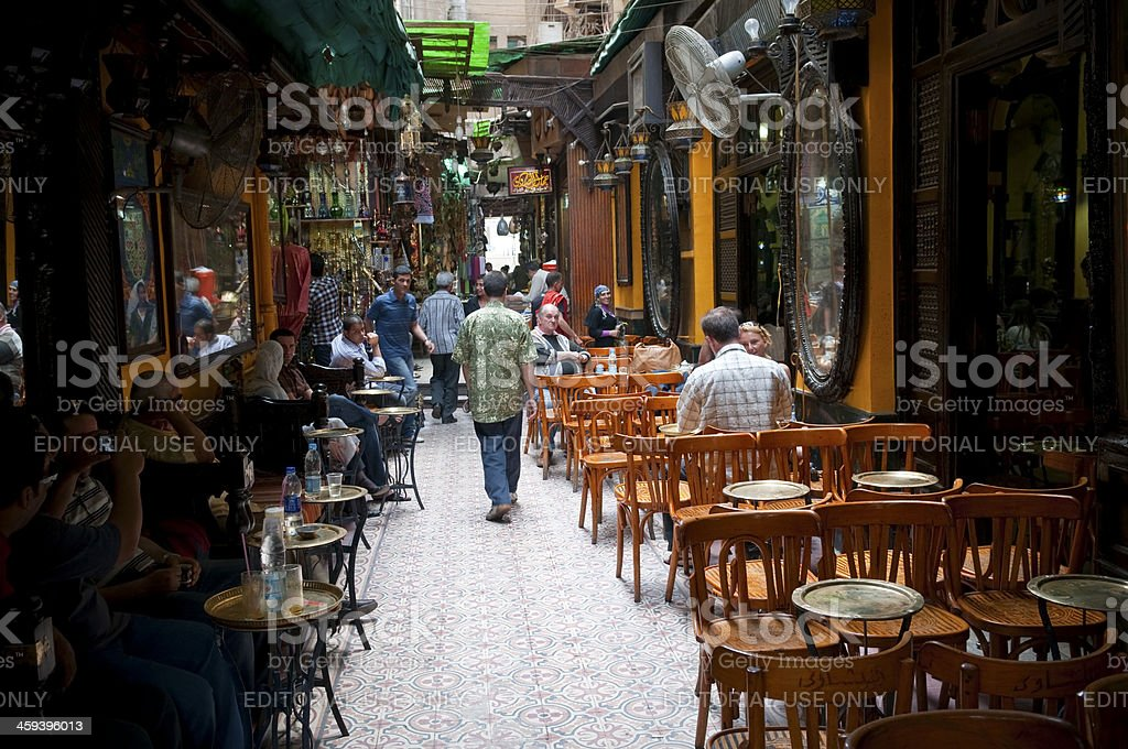 El Fishawy Cafe in Cairo stock photo