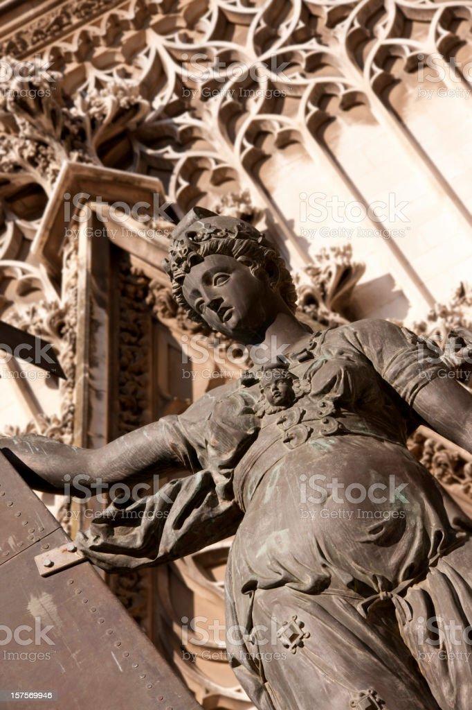 El Giraldillo Statue of Faith royalty-free stock photo