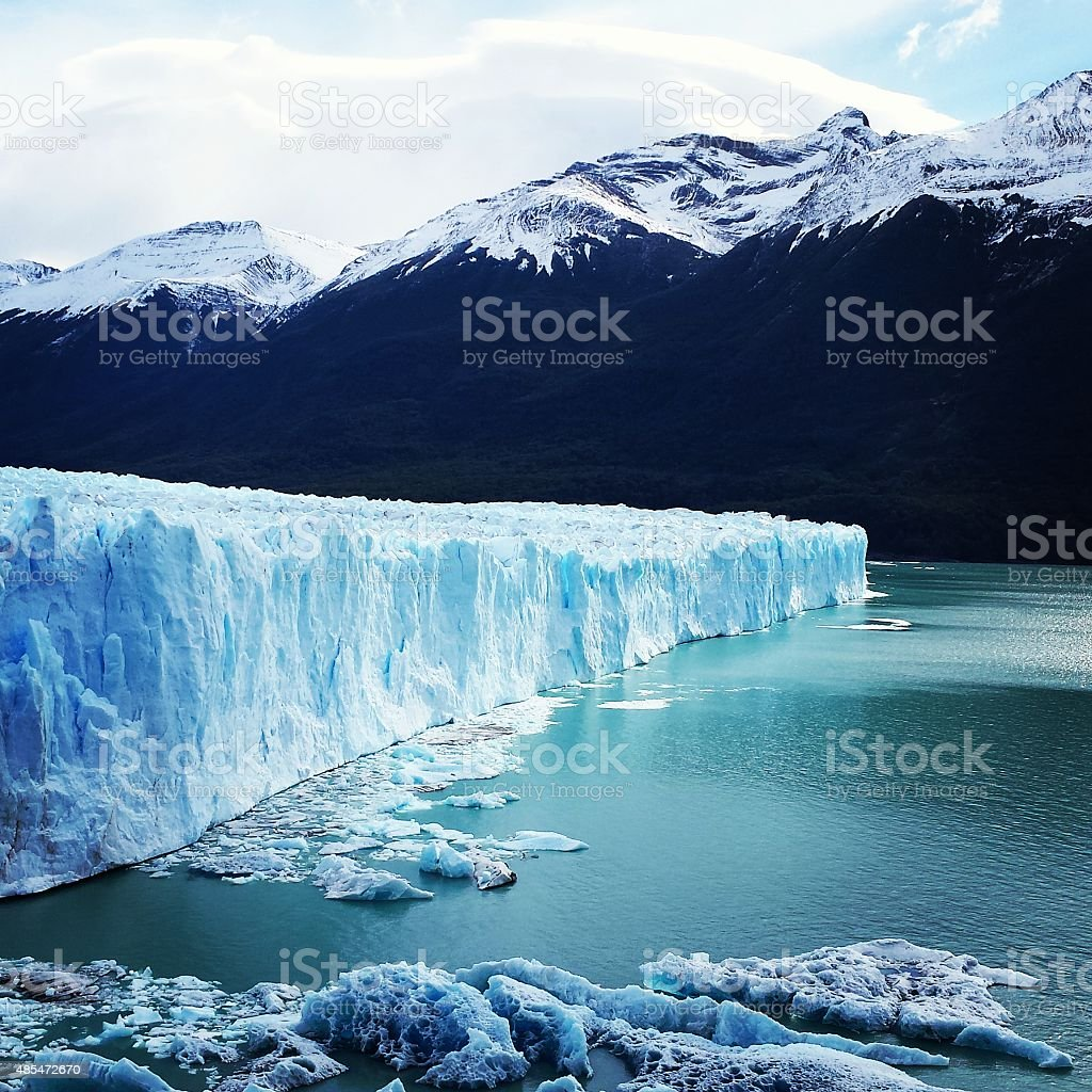 El Glaciar Perito Moreno stock photo