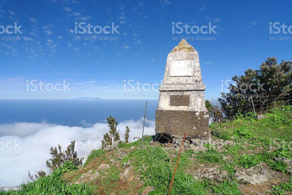 El Hierro - Monumento al General Serrador royalty-free stock photo