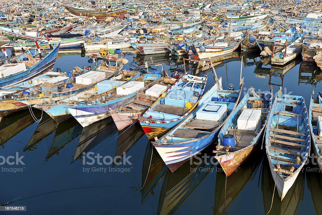 El Hudeyde harbor royalty-free stock photo