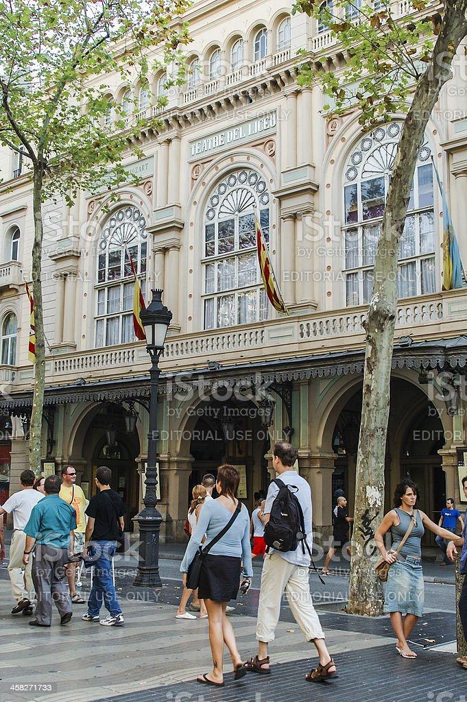 El Liceu royalty-free stock photo